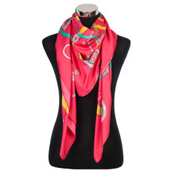 Stars and Medallions Design Scarf Coral