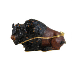Bison Trinket Box Bejeweled