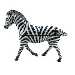 Zebra Trinket Box Enameled Bejeweled