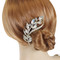 Crystal Marquis Leaves and Rhinestone Vine Hair Comb Gold