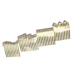 Rhinestone Assorted Set of Mini Hair Combs Ab Crystals