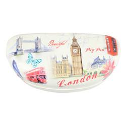 London Themed Oversize Colorful Eyewear Vinyl Hard Snap Case