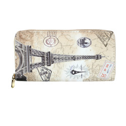 Vintage Paris Themed Wallet Phone holder