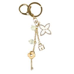 Enamel Charm Keychain Gold