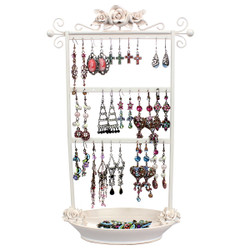 Ivory Rose Earring Rack with Tray
