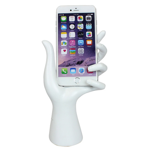 Hand Cell Phone Holder White