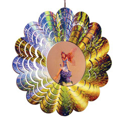 Fairy Painted Wind Metal Spinner 12""