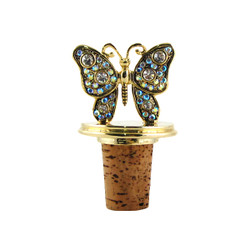 Gold Butterfly Cork Wine Stopper