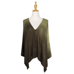 Multi Use Soft Scarf with Buttons Ombre Olive