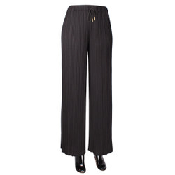 Pleated Palazzo Pants Black