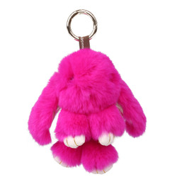 Rexy Rabbit Keychain Purse Charm Hot Pink