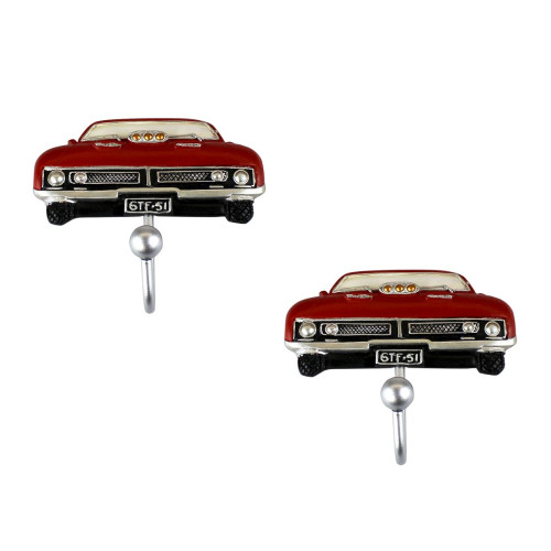 Matching Set of 2 Red Ford Falcon Wall Hook for Coat Hat Man Bags