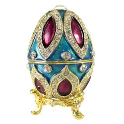 Multicolored Bejeweled Egg Trinket Box