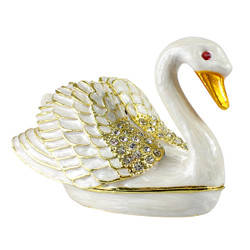 Pearl Swan Trinket Box
