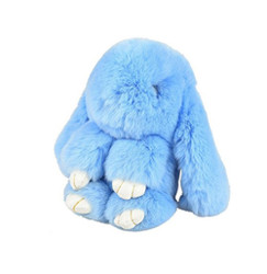 Large Rexy Rabbit Keychain Purse Charm  Baby Blue