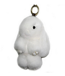 Large Rexy Rabbit Keychain Purse Charm White