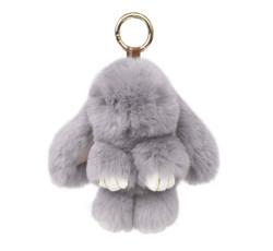 Large Rexy Rabbit Keychain Purse Charm Grey