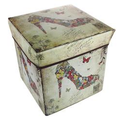 Collapsible Ottoman Box High Heel