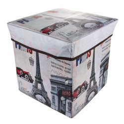 Collapsible Ottoman Box Paris