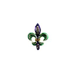 Rhinestone Miniature Fleur de Lis Brooch