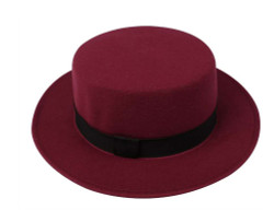 Pork Pie Hat Burgundy