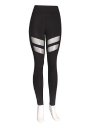 Mesh Cut Out Leggings One Size