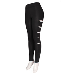 Side Slits Leggings Plus Size