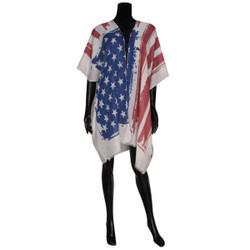 American Flag Wrap Kimono Ivory