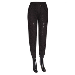 Distressed Joggers Black Plus Size