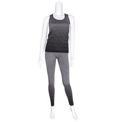 Activewear Set Racer Tank and Leggings Black