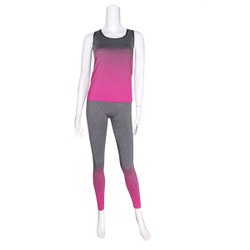 Activewear Set Racer Tank and Leggings Fuschia