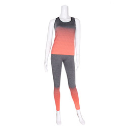Activewear Set Racer Tank and Leggings Orange