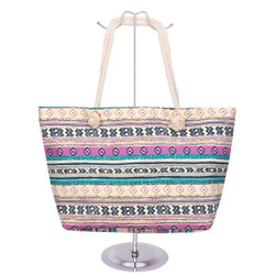 Tribal Canvas Tote Purple