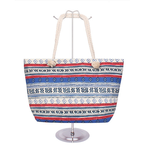 Tribal Canvas Tote Royal Blue