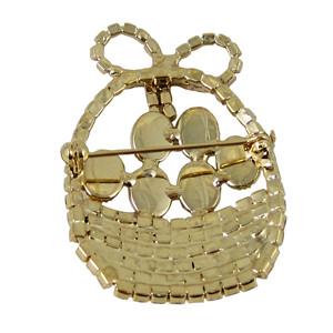 Easter Basket Brooch Crystals