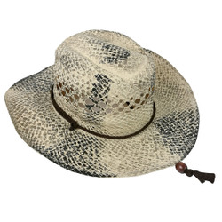 Ombre strawhat cowgal cowboy paper sun hat