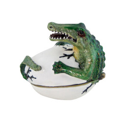 Hatching Alligator Trinket Box