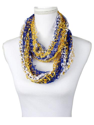 NBA golden state warriors color confetti scarf