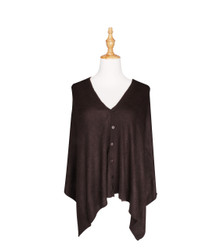 deep brown button scarf wrap