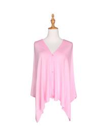 light pink button scarf wrap