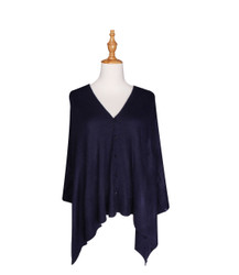 navy blue button scarf