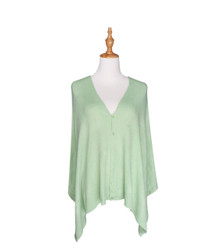 light green button scarf wrap