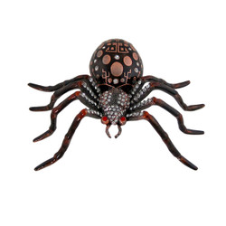 Spider Trinket Box Brown, and Red with Rhinestones