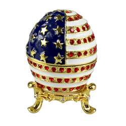 american flag egg trinket keepsake box