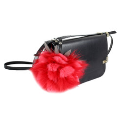 "Super Soft Mink Fur Fruit Charm 6"" Red"