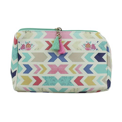 Chevron Print Multiuse Bag Tassels