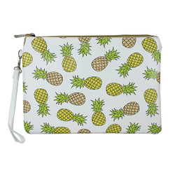 Pineapple Print Large Makeup Bag