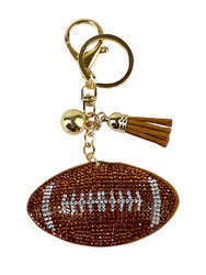 American Football Rhinestone Key Chain with Padded Felt Backing