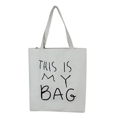 This is My Bag White Canvas Tote Bag