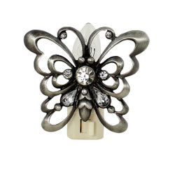 Crystal Accented Butterfly Nightlight